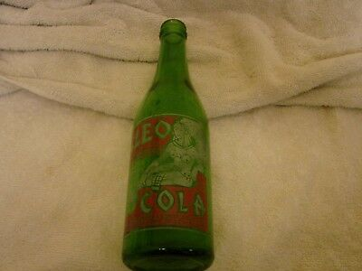 Cleo Cola Rare Acl Green Glass Soda Pop Bottle 1935 St. Louis Mo. 12 Oz. Nice Pa