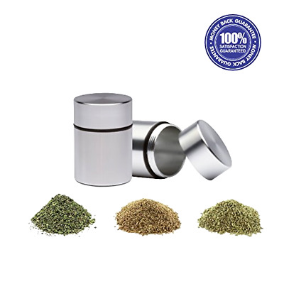 Herb Container Airtight Smell Proof Aluminum Stash Jar Weed Bud Storage New