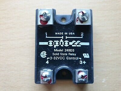 Opto 22 240D3 240VAC Solid State Relay