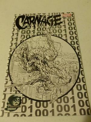 Carnage #1 Black and White Phantom Variant NM Amazing Spider-man 300 Swipe Venom