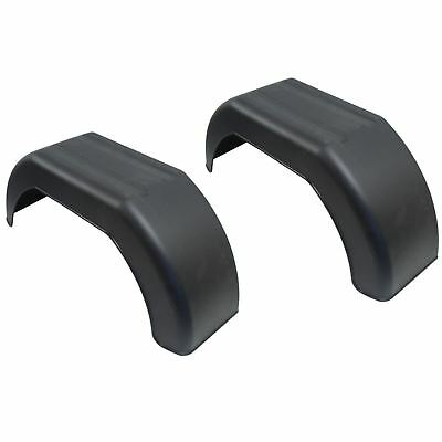 "Mudguard for Trailer Wheels 10"" Plastic Pair / Wing / Fender TR002"