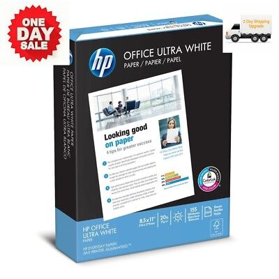 NEW 500 HP Printer Paper Sheets Office Ultra White 20lb 8.5x11 Letter FREE 2 DAY