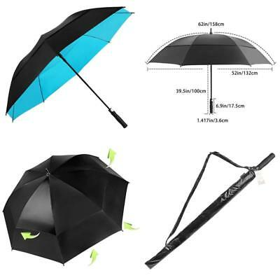 Golf Umbrella Windproof Extra Large Oversize Double Canopy Vented Automatic 68in