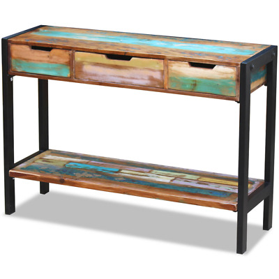 INDUSTRIAL CONSOLE TABLE Reclaimed Sideboard Rustic Sofa Table ...