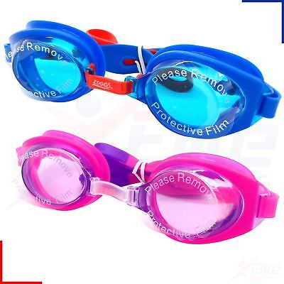 Zoggs Swimming Goggles - Ripper Junior Boys /Girls Childrens - UV Pink/Blue