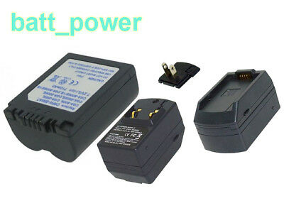 Camera Battery & Charger for LEICA V-LUX1 ,7.2V L-ion BP-DC5-E