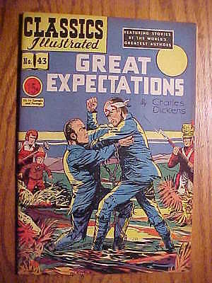 Classics Illustrated #43 Great Expectations   (Hrn 62) Vg+/ex  Condition