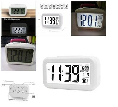 Digital Backlight LED Display Table Alarm Clock Thermometer LCD ACM Superb