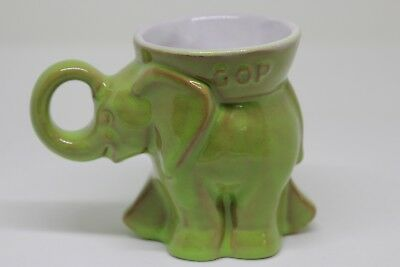 Vintage 1981 Frankoma GOP Republican Elephant Mug Cup Reagan-Bush  new old stock