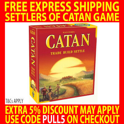 Settlers Of Catan 5Th Edition Core Set Family Board Game - Trade Build Settle