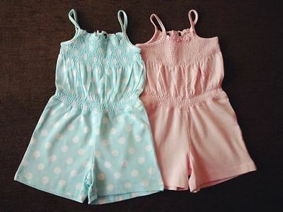 Girls' 2 Pack Cotton Dungarees 3-4, 4-5 Years George