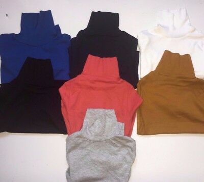 Boys / Girls polo neck turtle roll neck  tops 100% cotton