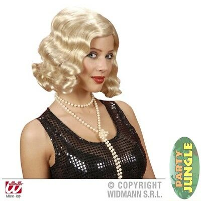 ROARING 20s FLAPPER GATSBY BLONDE WIG Adults Fancy Dress Accessory