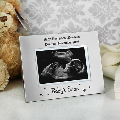 Personalised Baby Scan Picture Photo Frame Gift Photograph Baby 12 20 Week
