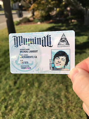illuminati official membership id card - With your face and info - hologram 9-11