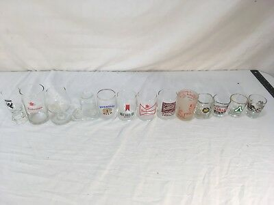 Budweiser Michelob Falstaff Camel Mixed Lot Various Brands Glass Shot Glasses