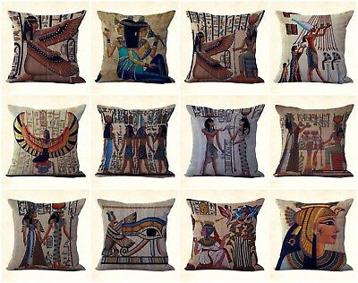 US SELLER, 12pcs decorative throw pillow cases cushion covers Ancient Egyptian