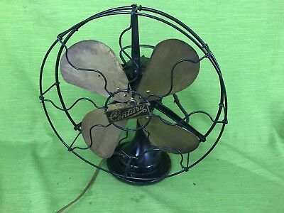 """Antique Electric """"Century"""" Fan 13"""" Cage Model 103 4 Brass Blades"""