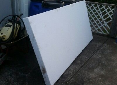 Polystyrene EPS, 2m X 1m X 10cm Sheet, perfect thermal insulation
