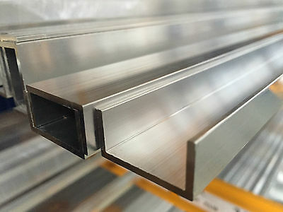 Aluminum U PROFILE CHANNEL LENGTH 500 mm 1000mm 1500mm 2000mm 2500mm 3000mm