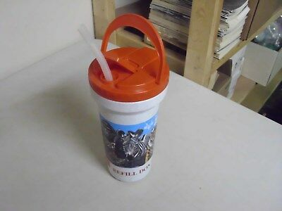 Vintage Saint Louis Zoo Coke Plastic Travel Mug Or Cup With Straw