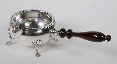 Vintage FISHER Sterling Silver Footed Gravy Sauce Boat With Wooden Handle #1096