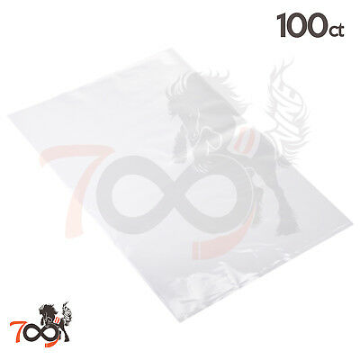 100 2 Mil 10x12 Owlpack Clear Poly Open End No Seal Plastic & Storage Bags