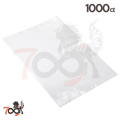 1000 2 Mil 10x12 Owlpack Clear Poly Open End No Seal Plastic & Storage Bags
