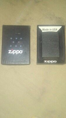 New Genuine Zippo Lighter - 236 Reg Black Crackle - Boxed 181507 never been used