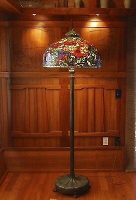 Tiffany floor lamp suburb reproduction, mission arts and crafts