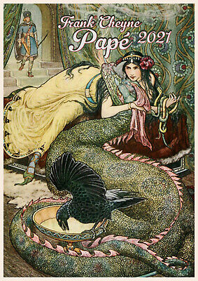 Wall Calendar 2018 [12 pgs A4] Russian Fairy Tales Vintage Book IllustrationM793