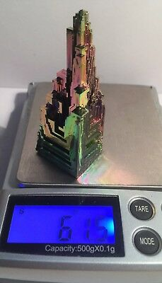 Spectacular 61.5 Gram 999.0 Pure BISMUTH CRYSTAL CASTLE (Great Investment)