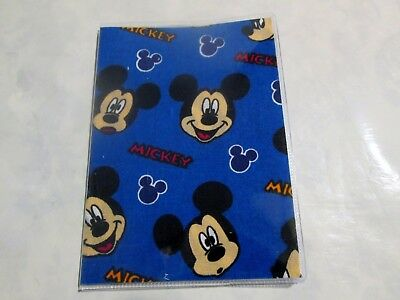 Mickey Mouse  Passport Cover Fabric + Vinyl Custom Handmade Disney Child kid's