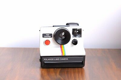 Retro Funky POLAROID 1000 LAND Instant Film , Signature Rainbow stripe! - xxx