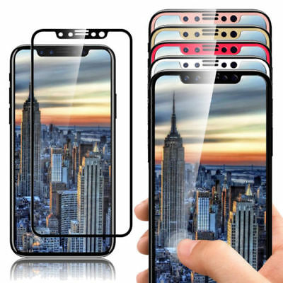 3D Glass Full Cover 9H Tempered Glass Screen Protector Film For iPhone X XS
