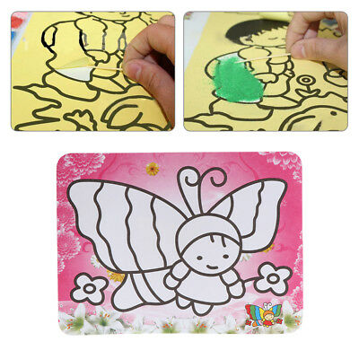 Color Sand Painting Creative Art Cartoon Paper Drawing Tools Kids Toy Craft Gift