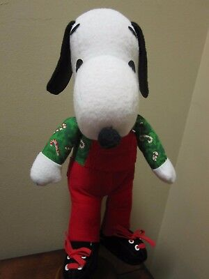"""Vintage Snoopy Plush Wearing Holiday Xmas Outfit  1958-66 13"""" Tall Rare Find"""