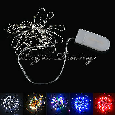 20/30LED Button Cell Battery Powered Silver Copper Wire Mini Fairy String Lights