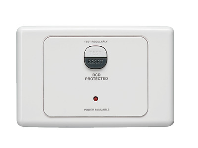Clipsal 2031RC10 White RCD Protected Safety Switch 2 Pole 20A 10mA