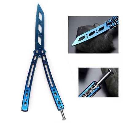1x Trainer Training Folding Metal Steel Practice Balisong Tool Butterfly Knife