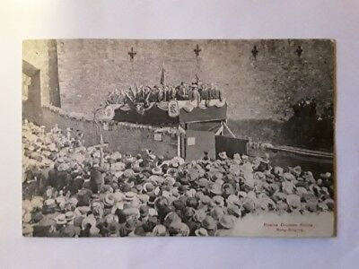 Hawick Common Riding Song Singing 1913 Postcard by W. Henderson,Hawick