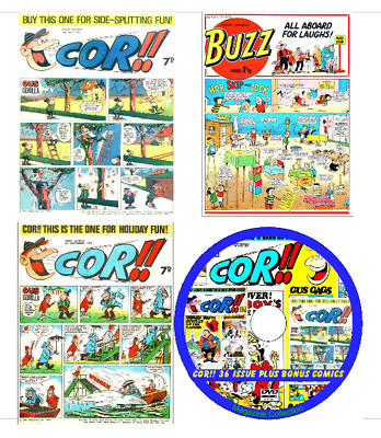 Cor!! 36 Issues PDF on DVD + 28 issues of Buzz, Cheeky, Wow, Crazy, School Fun