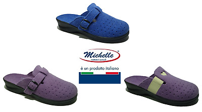 Ciabatte Donna Made In Italy Pantofole Confort Linea Comoda  Michelle - Flora
