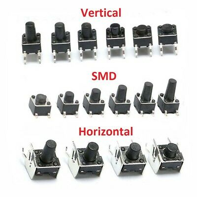 Momentary Tactile Push Button Switch Vertical/SMD/Horizontal Mini Micro PCB