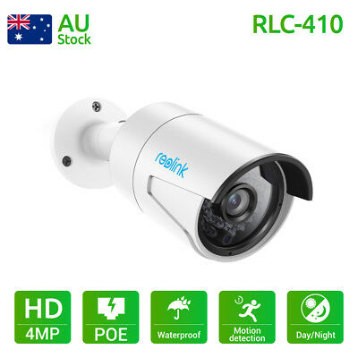 PoE IP Camera Security HD 4MP 1440P Night Vision Audio Bullet Reolink RLC-410