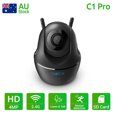 Reolink 1440P Wireless WiFi Security Camera  Baby Monitor Pan Tilt Video C1 Pro