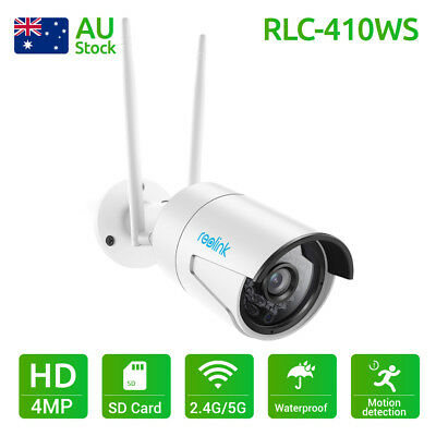 Reolink Wireless WiFi Camera HD 4MP IP Cam Home Security with 16G Card RLC-410WS
