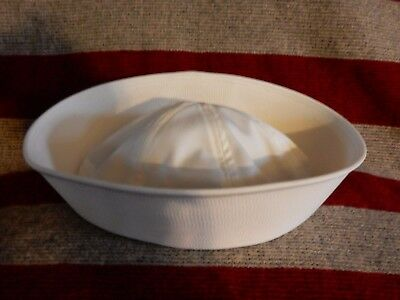 Genuine 1980's US Military Issue Navy Dixie Cup X-Large 7 3/4 White Sailor Hat