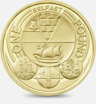 Rare Belfast £1 One Pound 1 Coin 2010 Capital City Cities Coin Hunt Royal Mint