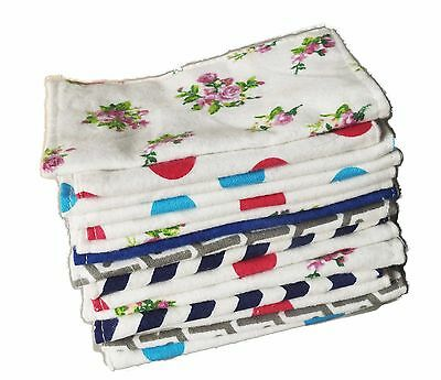 Flannel New Born Baby Absorment Burp Cloth Diaper Wipes,100% Cotton Double Layer